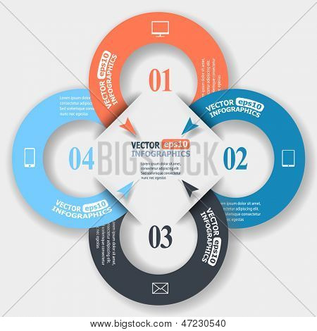 Abstract paper infographics. Vector eps10 illustration