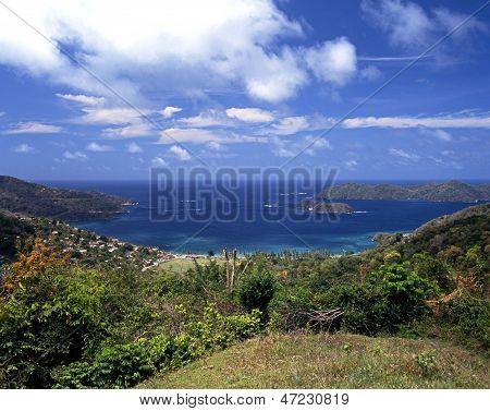 View to sea, Speyside, Tobago.