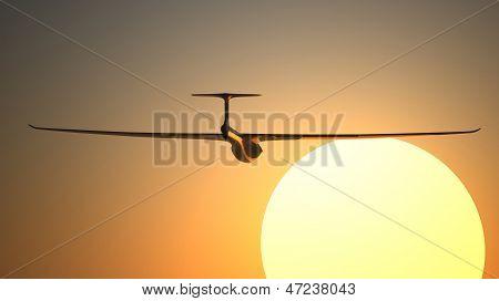 Glider On The Sunset