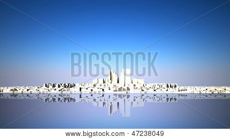 Abstract Skyline With Modern City