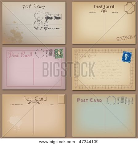 Vector Collection of Vintage Postcards