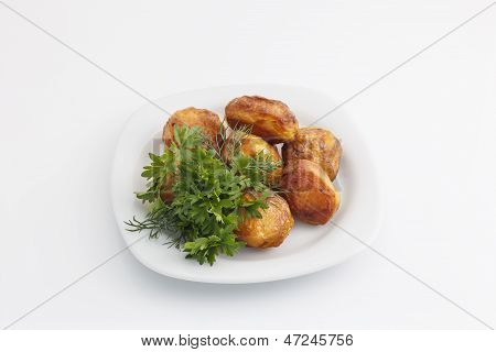 Baked Potatoes With Dill