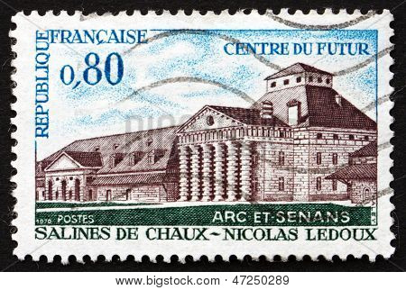 Postage Stamp France 1970 Shows Royal Salt Works, Arc-et-senas