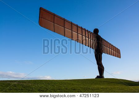 Angel Of The North On The Grass