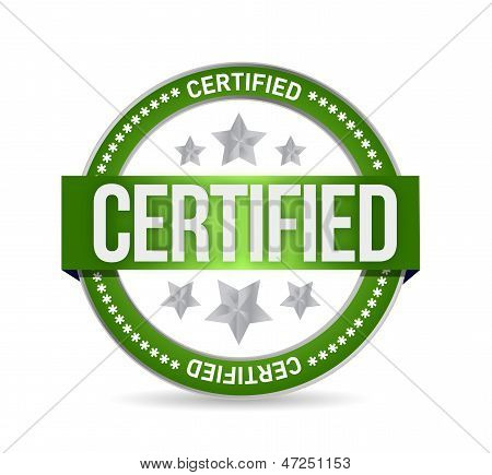 Certified Stamp Seal Illustration Design