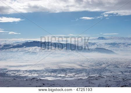 Winter Mountains Near Mount Ararat, Turkey