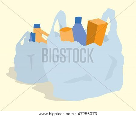 Supermarket Shopping / Grocery Bags