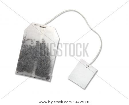 Teabag On White Background