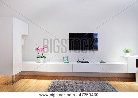 Schuss aus einem modernen minimal-Wohnzimmer