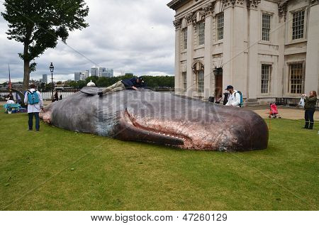The Great Greenwich Whale At The Greenwich And Docklands International Festival In Londons Greenwich
