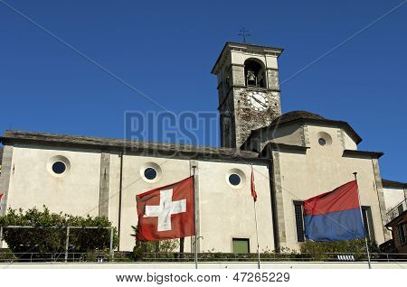 Church in Brissago Switzerland