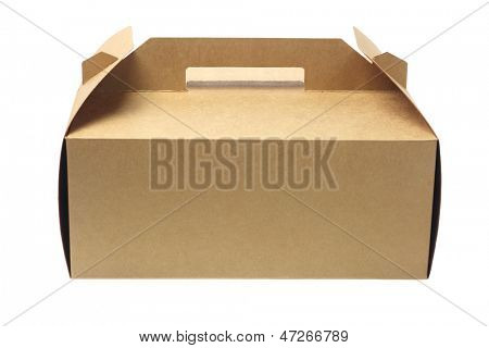Takeaway Cake Box On White Background
