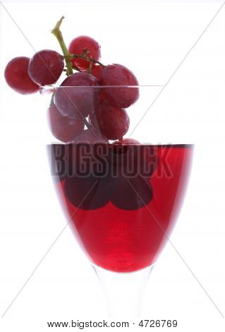 Red Grapes In Red Wine