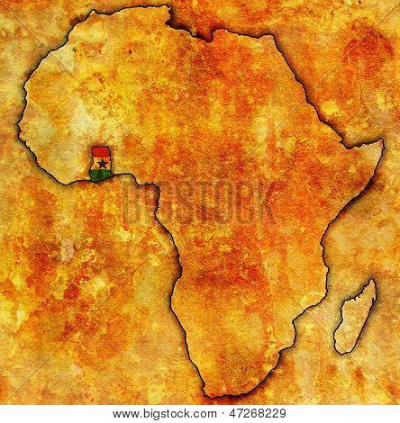 Gana na real mapa da África