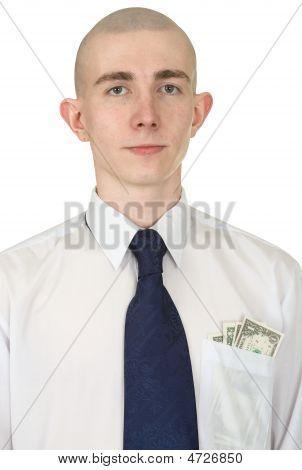 Hombre con dinero en el bolsillo