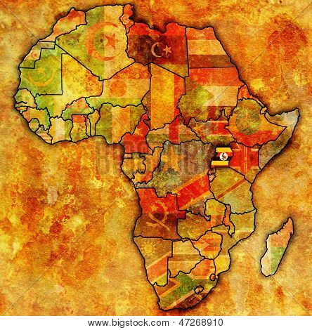 Uganda On Actual Map Of Africa
