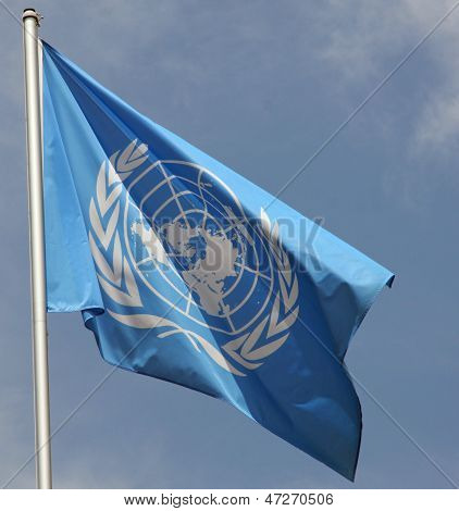Blue Flag Of The Un United Nations Organisation