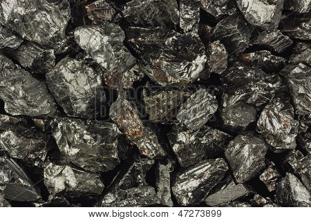 Pieces Of Raw Coal