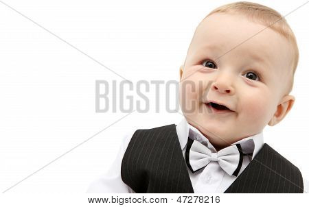 Beautiful Baby Boy In Suit