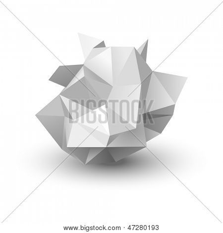 crumpled paper, vector illustration