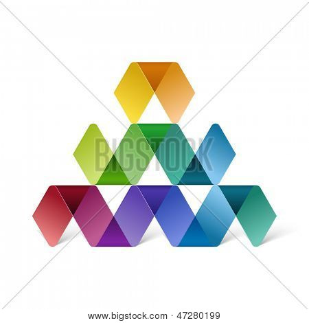 Abstract colorful pyramid, eps10 vector