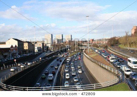 Autobahn bei Rush Hour