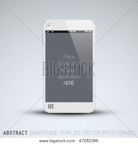 Abstract white mobile phone template with place for your application screenshot