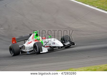 MOSCOW - JUNE 23: Mihai Marinescu of Zeta Corse team (ITA) race at Formula Renault 3.5 race at World Series by Renault in Moscow Raceway on June 23, 2013 in Moscow
