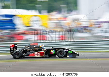 MOSCOW - JUNE 23: Oscar Tunjo of Josepf Kaufmann Racing team (GER) race at Formula Renault 2.0 race at World Series by Renault in Moscow Raceway on June 23, 2013 in Moscow