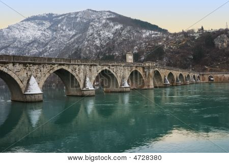 Famous Bridge On Drina