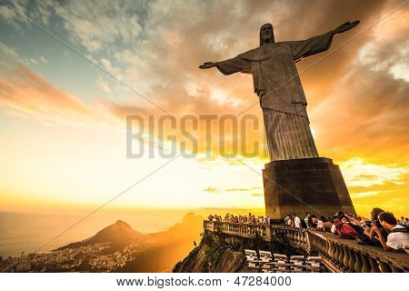 Christ the Redeemer statue, top of Corcovado mountain
