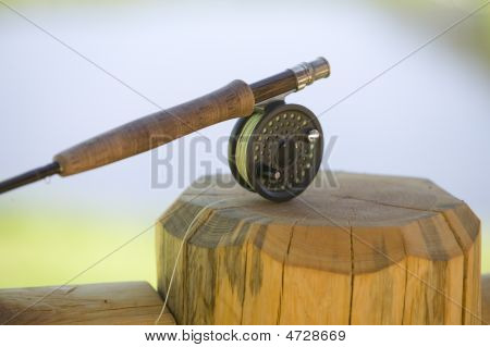 A Fly Fishing Rod and Reel