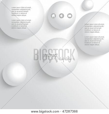 eps10 vector 3d white sphere metallic background