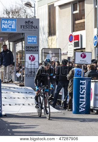 The Cyclist Ian Boswell- Paris Nice 2013 Prologue In Houilles