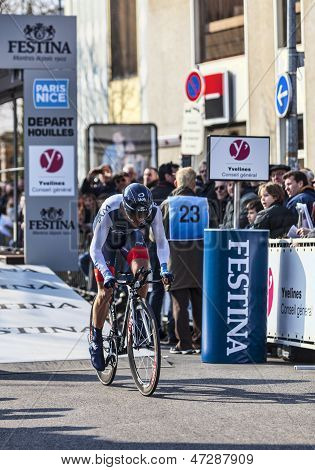 The Cyclist Hinault S�bastien- Paris Nice 2013 Prologue In Houilles