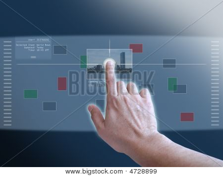 Projection Of A Virtual Touch Screen