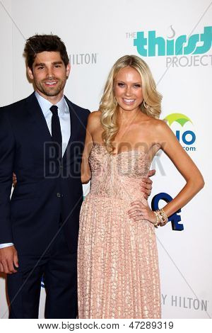 LOS ANGELES - JUN 25:  Justin Gatson, Melissa Ordway arrives at the 4th Annual Thirst Gala at the Beverly Hilton Hotel on June 25, 2013 in Beverly Hills, CA