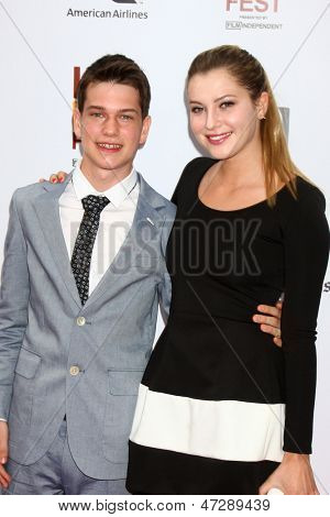 """LOS ANGELES - JUN 23:  Liam James, Zoe Levin arrives at  """"The Way Way Back"""" Premiere as part of the Los Angeles Film Festival at the Regal Cinemas on June 23, 2013 in Los Angeles, CA"""