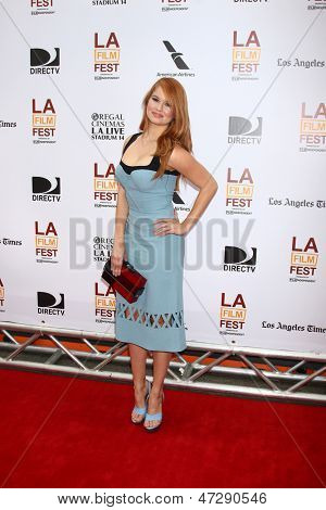 "LOS ANGELES - JUN 23:  Debby Ryan arrives at  ""The Way Way Back"" Premiere as part of the Los Angeles Film Festival at the Regal Cinemas on June 23, 2013 in Los Angeles, CA"