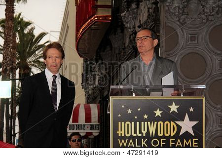 LOS ANGELES - JUN 24:  Jerry Bruckheimer, Bob Iger at  the Jerry Bruckheimer Star on the Hollywood Walk of Fame  at the El Capitan Theater on June 24, 2013 in Los Angeles, CA