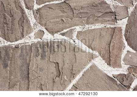 Relief Stone Wall