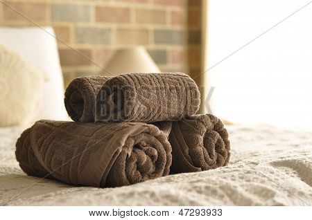 Towel In Hotel Room