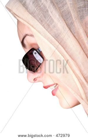 Modern Girl With Sunglass And Scarf - Face