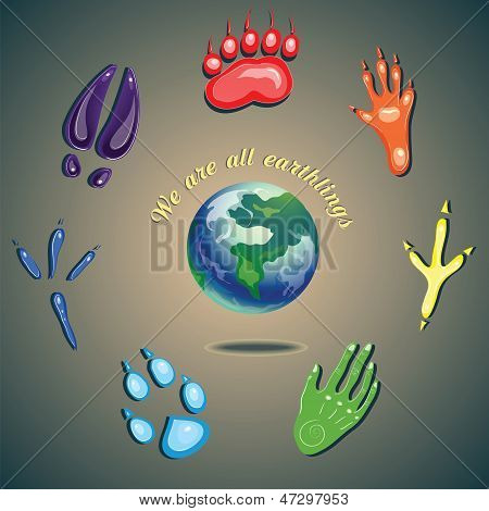 Footprints And Earth