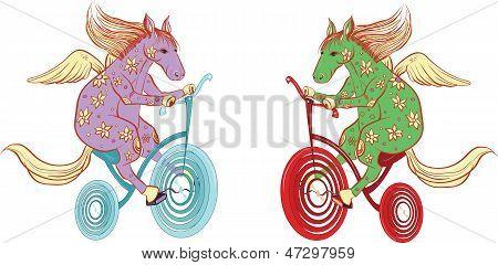 Pegasus Rides A Bicycle