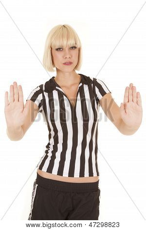Woman Blond Ref Pushing