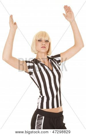 Woman Blond Ref Touchdown