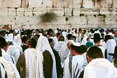Jerusalem, Israel, Jewish Pesach (passover) Celebration Near The Wailing Wall.