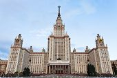 foto of gory  - facade of Lomonosov Moscow State University in morning - JPG