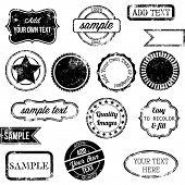 picture of certificate  - Vector Set of Retro Stamps and Badges - JPG